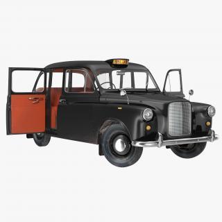 3D London Cab FX4 Rigged