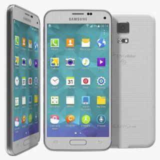 3D Samsung Galaxy S5 Mini White model