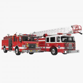 Fire Trucks Collection 3D