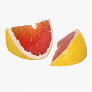 3D Grapefruit Slice