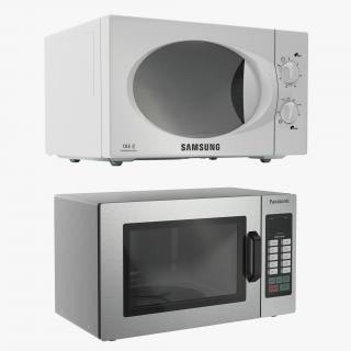 3D Microwave Ovens 3D Models Collection