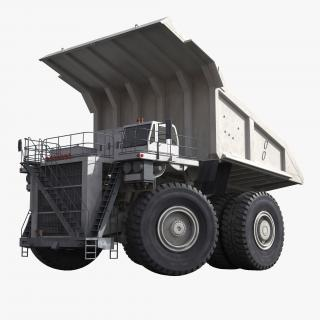 3D Mining Truck Generic White Rigged model