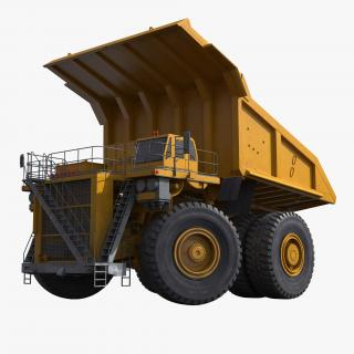 Haul Truck Generic Yellow Rigged 3D