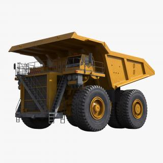 3D Heavy Duty Dump Truck Generic Yellow