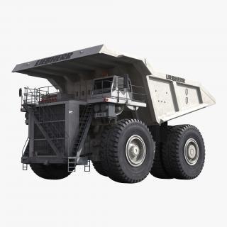 3D Heavy Duty Dump Truck Liebherr White