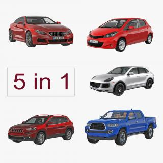 3D model Generic Cars Collection 2