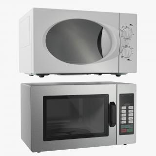3D model Generic Microwave Ovens 3D Models Collectiion