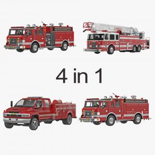 Fire Trucks Collection 2 3D model