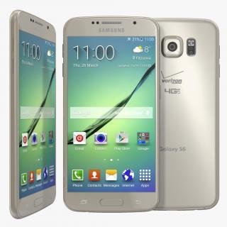 Samsung Galaxy S6 Gold 3D