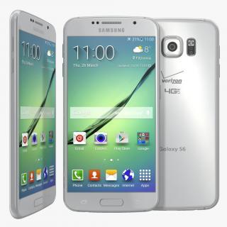 3D Samsung Galaxy S6 White model