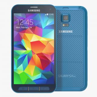 3D Samsung Galaxy S5 Sport Blue model