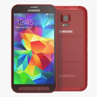 Samsung Galaxy S5 Sport Red 3D