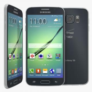 3D Samsung Galaxy S6 Black model