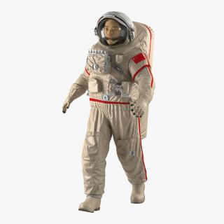 3D Chinese Astronaut Wearing Space Suit Haiying Rigged