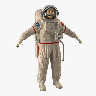 Chinese Astronaut Wearing Space Suit Haiying 3D model