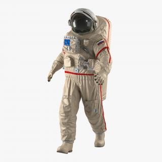 Russian Space Suit Orlan MK Rigged 3D model