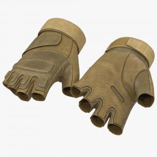 3D model US Soldier Gloves Short Finger