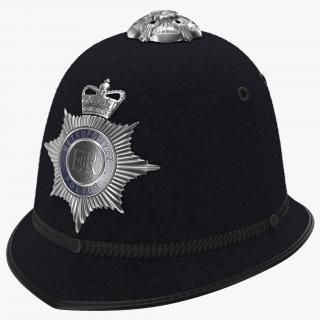 3D London Metropolitan Police Custodian Helmet model