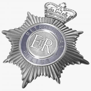 London Metropolitan Police Helmet Plate 3D model