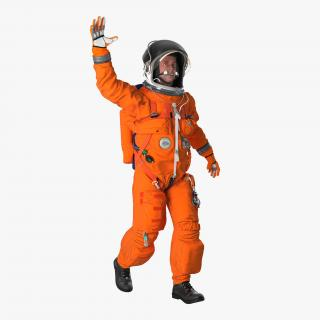 3D US Astronaut Wearing Advanced Crew Escape Suit ACES Rigged model