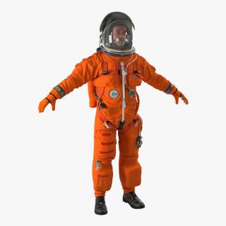 3D US Astronaut Wearing Advanced Crew Escape Suit ACES
