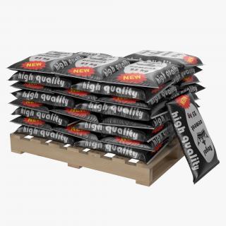 3D Pallet of Cement Bags