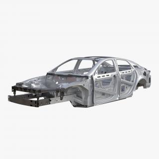 3D Car Frame 4 Rigged model
