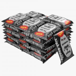 Cement Bags Stack 3D