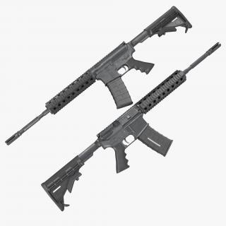 3D Assault Rifle AR15 model