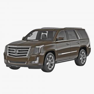 3D Cadillac Escalade 2015 Simple Interior model