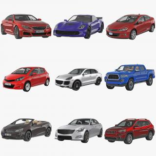 3D Generic Cars Collection model