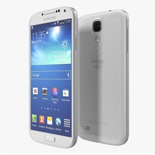 3D Samsung Galaxy S4 White model