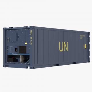 3D ISO Refrigerated Container Blue