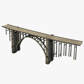 Bixby Creek Bridge in Big Sur 3D model