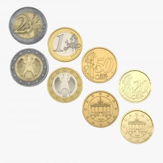 3D model German Euro Coins 3D Models Collection 2