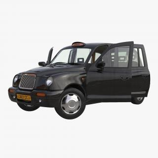 3D London Cab TX1 Rigged