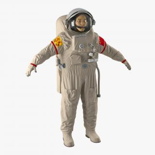 Chinese Astronaut Wearing Space Suit Feitian 3D model