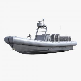 3D Naval Special Warfare Rigid Hull Inflatable Boat RHIB model