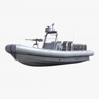 3D model Naval Special Warfare Rigid Hull Inflatable Boat RHIB 2