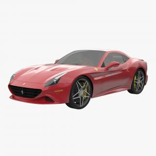 3D Ferrari California T 2015 Simple Interior