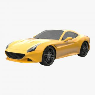 3D Generic Sport Car Simple Interior model