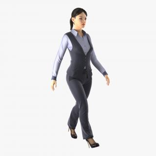 Asian Business Woman Rigged 3D