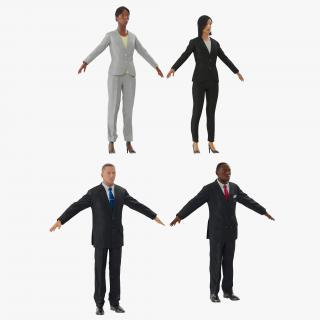 3D model Rigged Business People Collection 2