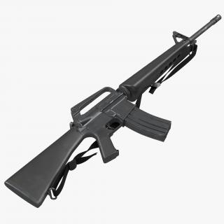 Assault Rifle M16 5 3D model