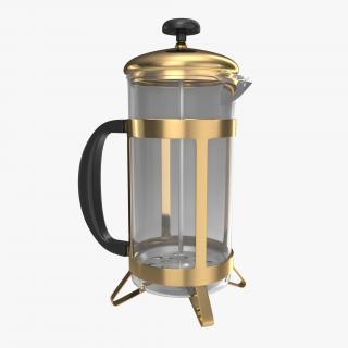 3D French Press Coffee Pot model