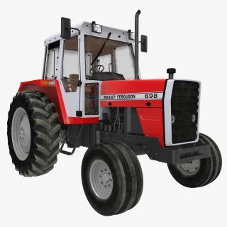 3D Vintage Tractor Ferguson 698 model
