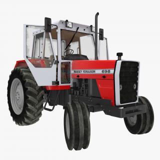 3D model Vintage Tractor Ferguson 698 Rigged