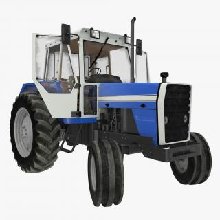 3D model Vintage Tractor Generic Rigged