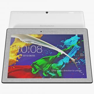 Tablet Lenovo Tab 2 A10 White 3D model