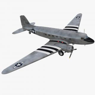 3D model Douglas DC-3 US Air Force
